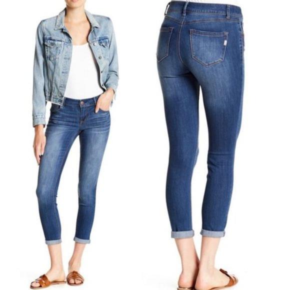 1822 Denim Adrianna Jeans ~ Mid Rise Dark Wash 12